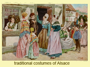 Alsace traditional costumes